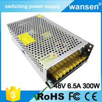 China manufacture 320w led ac/dc transformer 48v 6.5a small switch mode power supply s-320-48