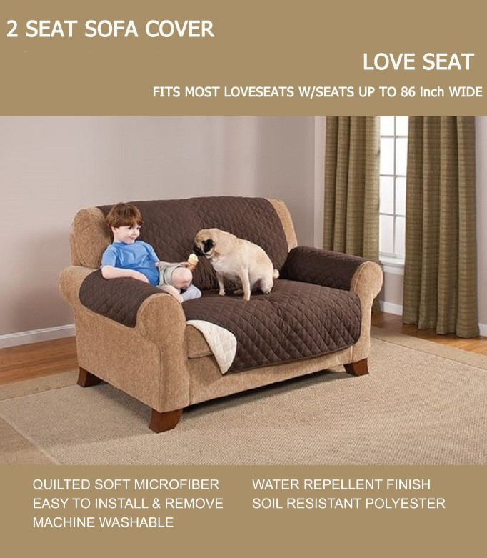 Amazon hot sell Pet Sofa Cover with Elastic Strap Micro Suede Sofa Scover Stylish Furniture Protector, Sofa Shield