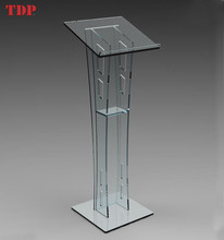 Wholesale Custom Clear Blue Flooring Hotel Acrylic Podium Demountable