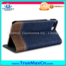 Mobile Accessories Jeans Pocket Leather Wallet Cell Phone Case for iPhone 7 Plus