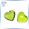 Green faceted glass gems heart cut price of raw gemstones for making jewerly