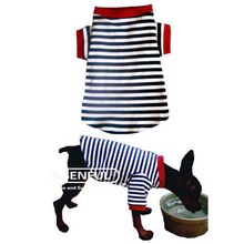 NEW!!!New Cute Striped Pet Puppy Dog Cat Apparel Clothes Coat T Shirts