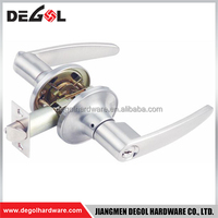 Zinc Alloy lever door handle types of tubular locks for bathroom