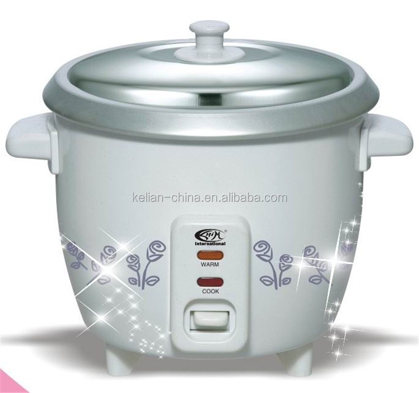 White printing drum type 5L rice cooker for family cooking