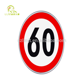 Solar led speed limited traffic warning sign