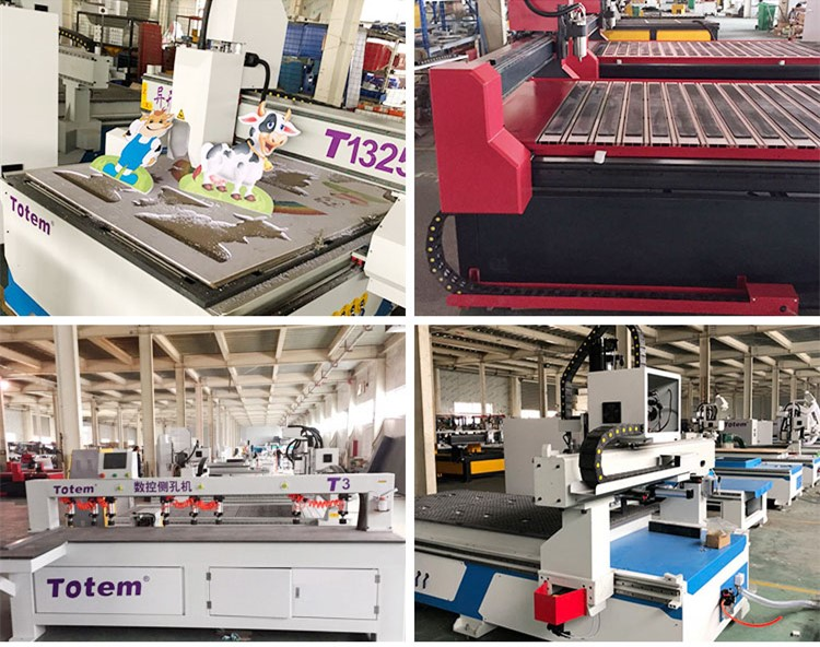 Wood lathes working machinery China factory furniture Straight line ATC auto tool change CNC Router