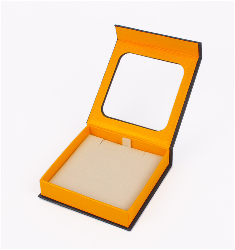 Custom Ornaments Gift Packaging Cardboard Box With Clear Lid PVC Window