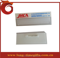 ABS /plastic magnetic reusable name badge with paper logo