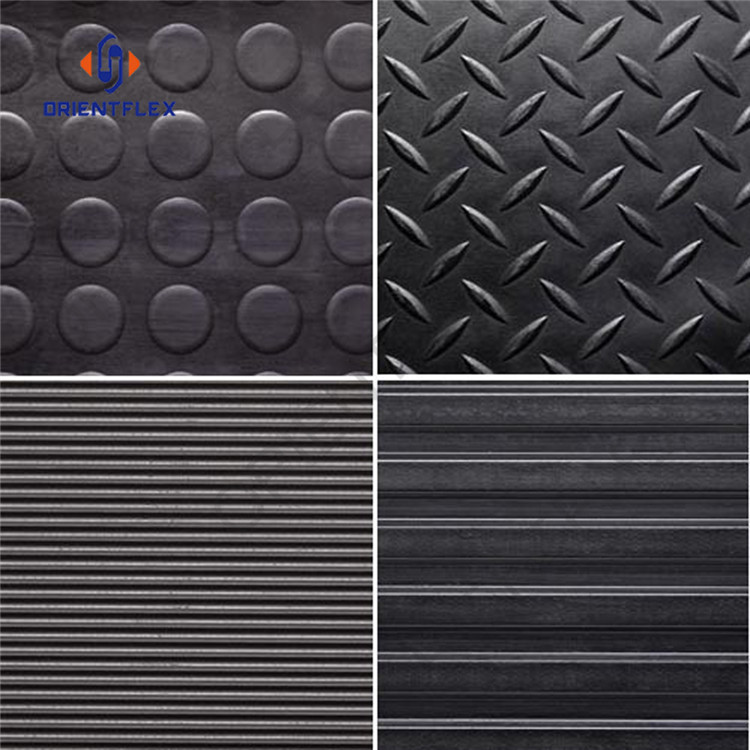 Reliable bendy anti-aging industrial non slip rubber matting factory direct supply