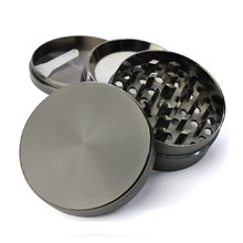 High quality 4 parts 55*40mm zinc alloy tobacco spice herb grinder Guangzhou, China