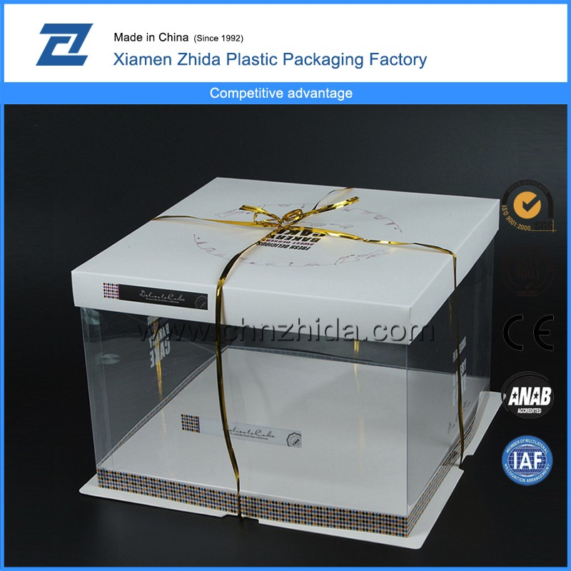 New design fashion wholesale paper cake box packaging