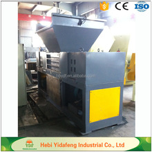 Double shaft wood pellet shredder