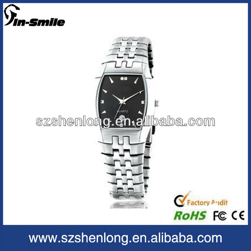 2013 top brand quartz stainless steel back watch,OEM,swiss made watches