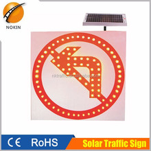 solar power system led flash light traffic arrow reflective sign