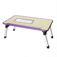 Adjustable Wooden Laptop Desk Notebook Computer Stand with Built in Cooling Fan Portable, Foldable Lap Desk