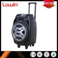 High quality portable 40W wireless bluetooth 2.0 active pa speaker with led light