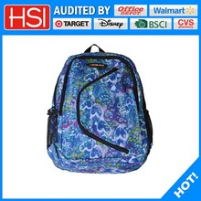 wholesale price 600D polyester school bags backpack