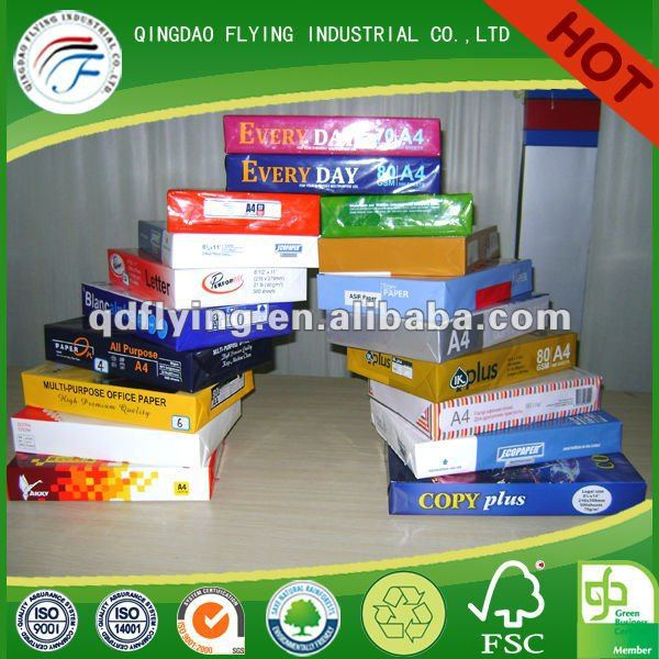 50gsm 55gsm 60gsm 70gsm 80gsm White woodfree offset printing paper sheet roll