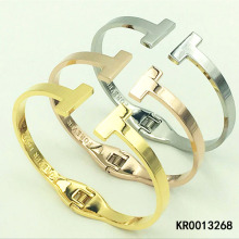High Quality Personalized Open Double T Cuff Bangle Bracelet for Women