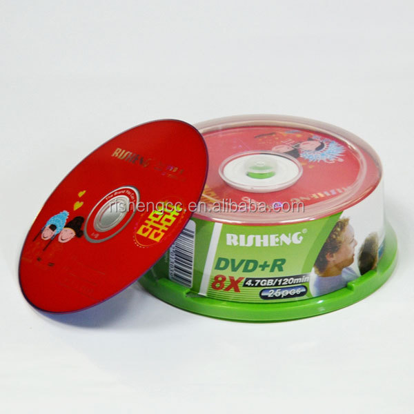 RISENG 8x 4.7GB 120MINs value disc dvd-r/blank 8x verbatim dvd -r/ydd blank dvds printed