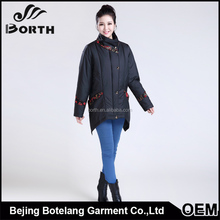 Wholesale lady fashion medium windproof white duck dow filler for women coat