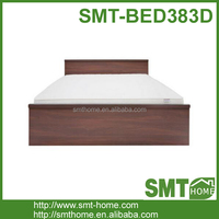 Simple king size wood panel bed frame
