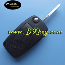 3 button flip key blank car key for Fiat key in black SIP22 blade backside with battery door