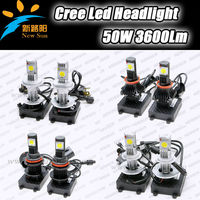 Hight Power 50W Car Auto LED Head Light Lamp H1 H3 H4 H7 H8 H9 H13 H16 9004 9005 9006 9007 Bulb 50W C REE Chips 1800Lm