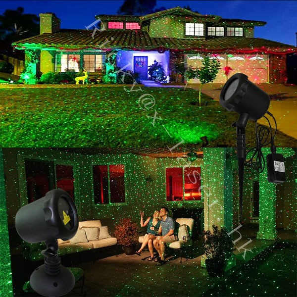 Blinking laser Christmas Light with RF Remote Control Waterproof Outdoor and Indoor Red and Green Star Laser Projector