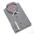 contrast color button down men cotton shirt stock