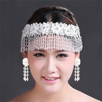 Fashion charm wedding hair ornament crystal bridal hair accessories forehead hair jewelry MLF078T