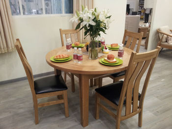 903KN Range 100% Solid Oak Extension Dining Table And Chairs/Dining Sets