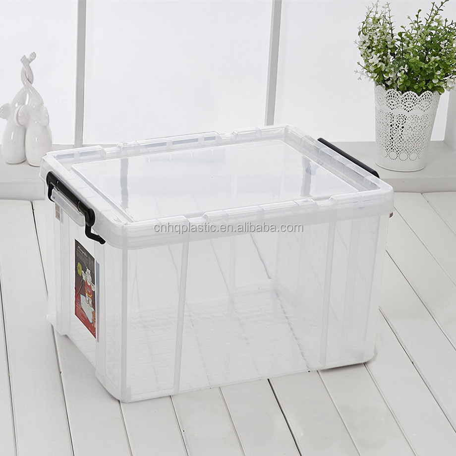 20L 30L 45L 60L Extra large thickened transparent plastic storage box with lids books clothes quilt toy tool storage box