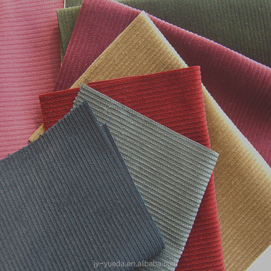 Better Pile Abrasion 9Wales 100% Cotton 4Harness Corduroy Fabric Wholesale With Short Pile