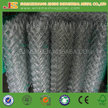 6ft Galvanized / Green PVC Coated Chain Link Wire Mesh Fence Manufacture