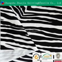 Alibaba China wholesale polyester printed black and white zebra stripe fabric for sofa made in suzhou