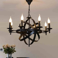 Elegant European Iron Art Chandeliers Candle