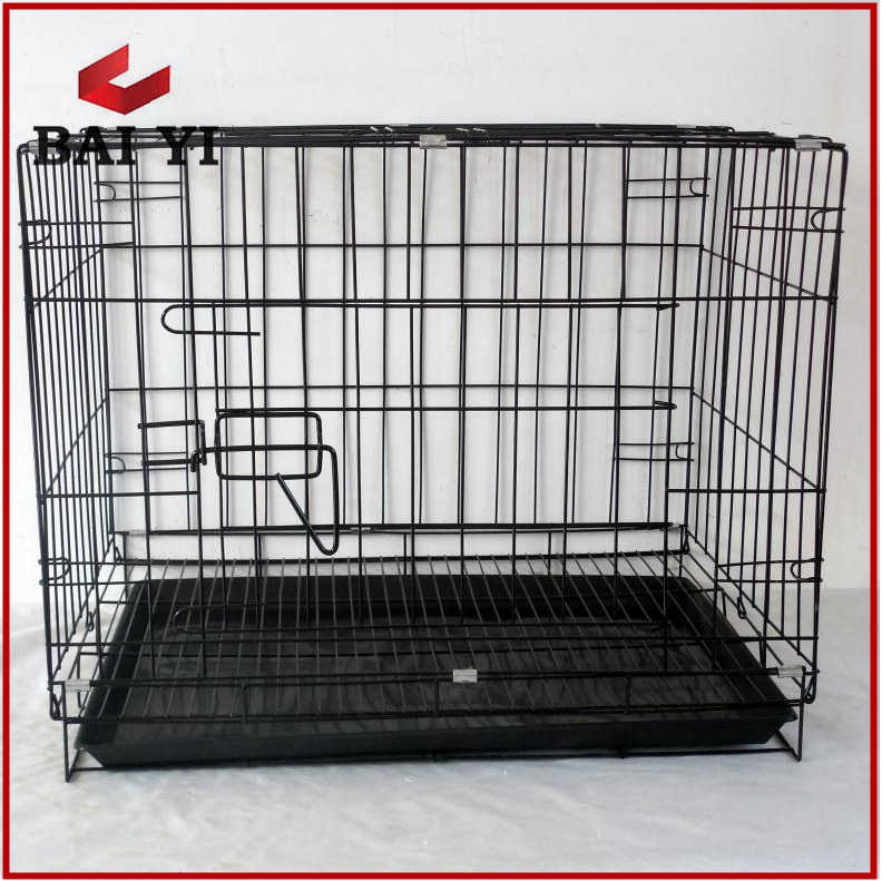 Foldable stainless steel dog cage