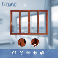 Tansive construction double glazed Aluminum frame french sliding door balcony