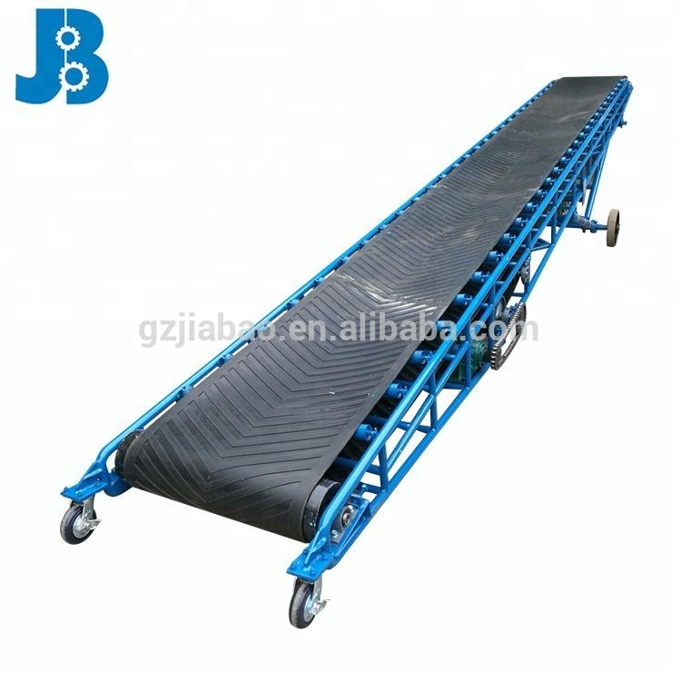 Professional bulk material portable fixed rubber belt conveyor machine guangdong