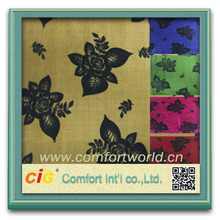 Fashion new design pretty colorful ningbo polyester printed spandex fabric
