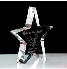 Personalized cup diy crystal trophy five point star award trophy