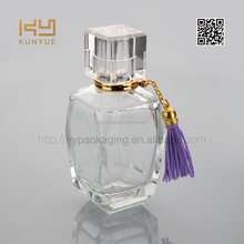 50ml empty perfume glass bottle and pendant in exquisite design