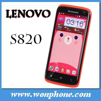 "4.7"" cheapest Lenovo S820 Android 4.2 OS MTK6589 Quad core phone Dual sim WIFI GPS Russian 1.2GHz 1G/4G mobile phone"