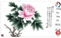 Wholesale silk base material handmade painting peony flowers