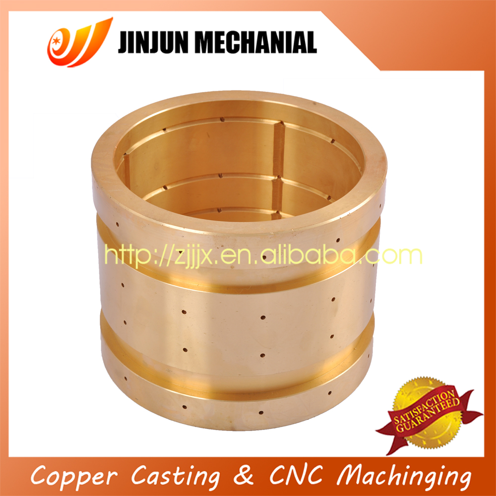 bronze sleeve bushings with CNC machining drilling for ceramic parts