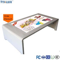 42 inch lcd touch screen table digital floor stand advertising display