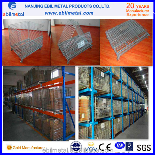 Chinese new foldable storage wire cage