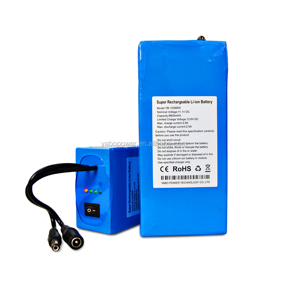 LED stip rechargeable lithium ion battery 12v any capacity any size with UL certificate