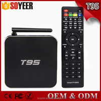 Soyeer T95 Android Tv Box Amlogic S905 Tv Box 2Gb Ram Set Top Box Best Selling Products Metal Case With Wifi Antenna 1G 8G